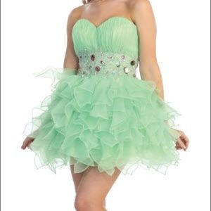 NWT Short Mint Green Homecoming/Pageant Dress